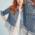 Anthropologie Blue Pilcro and The Letterpress Eyelet Jacket Size 2 (XS) Anthropologie Blue Pilcro and The Letterpress Eyelet Jacket Size 2 (XS) Image 2