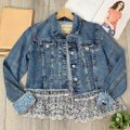 Anthropologie Blue Pilcro and The Letterpress Eyelet Jacket Size 2 (XS) Anthropologie Blue Pilcro and The Letterpress Eyelet Jacket Size 2 (XS) Image 8