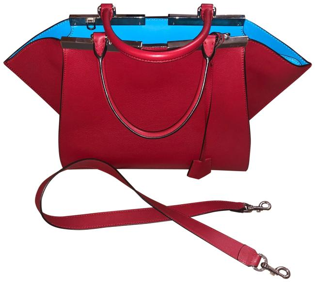 Item - 3jours Red Leather Satchel