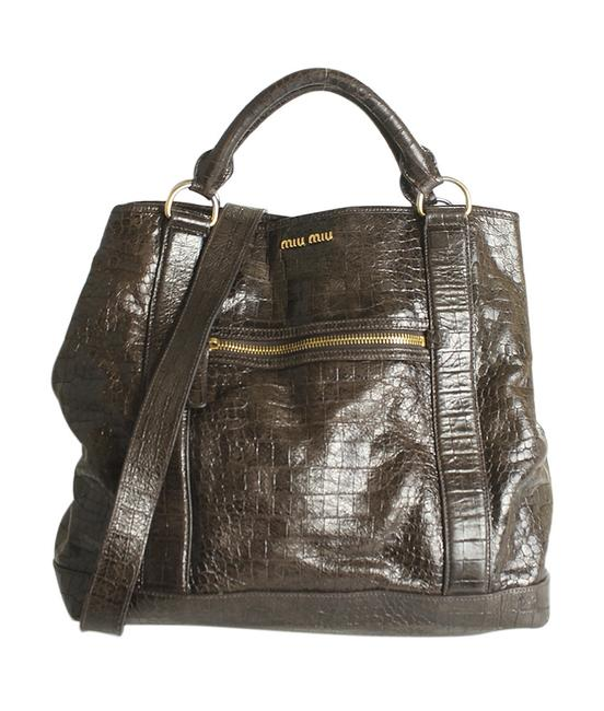 Item - Bag St Cocco Embossed 2- Way (190418) Brown Leather Tote