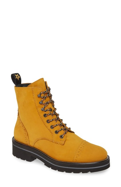 Item - Mustard Ceylo Combat Moto Zip Up Curry Nubuck (Jb7) Boots/Booties Size US 8.5 Regular (M, B)