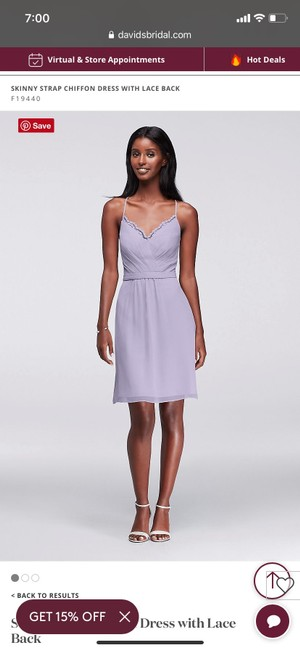 Item - Lavender Mesh with Lace Sexy Bridesmaid/Mob Dress Size 24 (Plus 2x)
