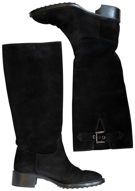 Tod's Black Suede Knee High with Buckles Boots/Booties Size EU 36 (Approx. US 6) Regular (M, B) Tod's Black Suede Knee High with Buckles Boots/Booties Size EU 36 (Approx. US 6) Regular (M, B) Image 1