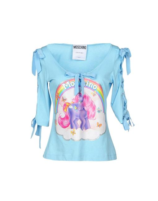 Item - Light Blue My Little Pony Cotton T-shirt Lace Up Sleeves Tee Shirt Size 6 (S)