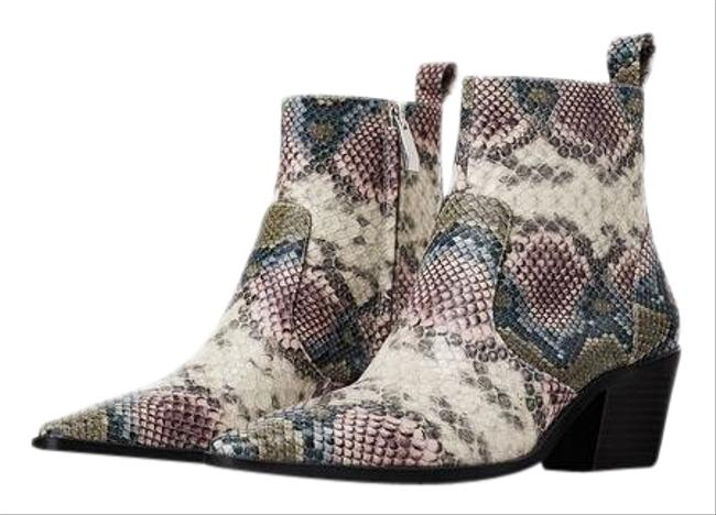 Item - Multicolor Animal Snakeskin Print Cowboy Heeled Ankle Color 6/36 New. Boots/Booties Size US 6 Regular (M, B)