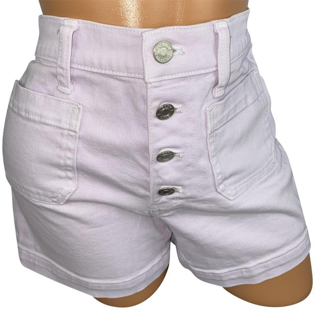Item - Purple High Rise Button Fly Jean Shorts Size 2 (XS, 26)