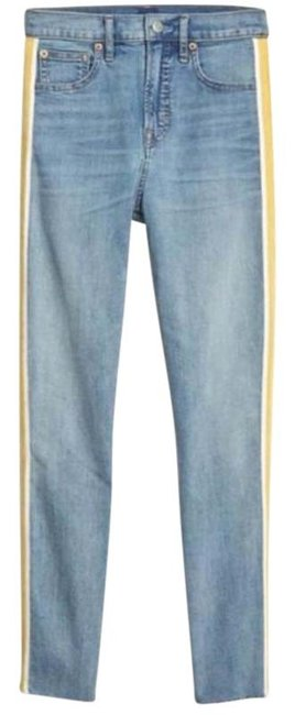 Item - Yellow Blue Light Wash High Rise Ankle Waist Skinny Jeans Size 28 (4, S)