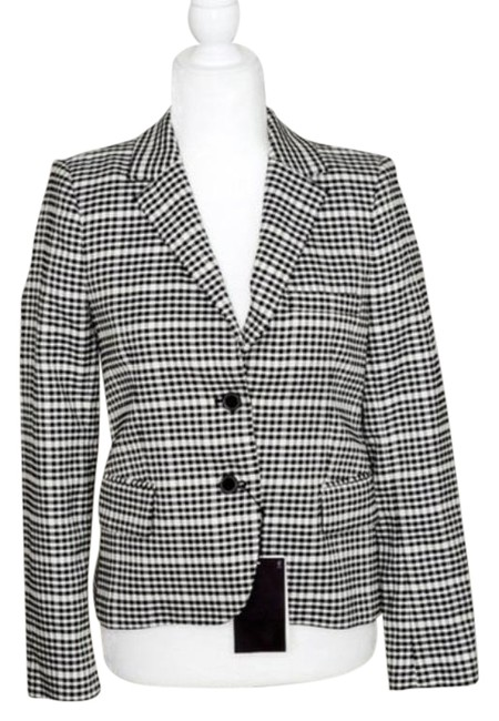 Item - Black White Houndstooth Buttoned Small Blazer Size 4 (S)