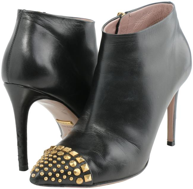 Item - Black Leather Studded Ankle Boots/Booties Size US 5 Narrow (Aa, N)