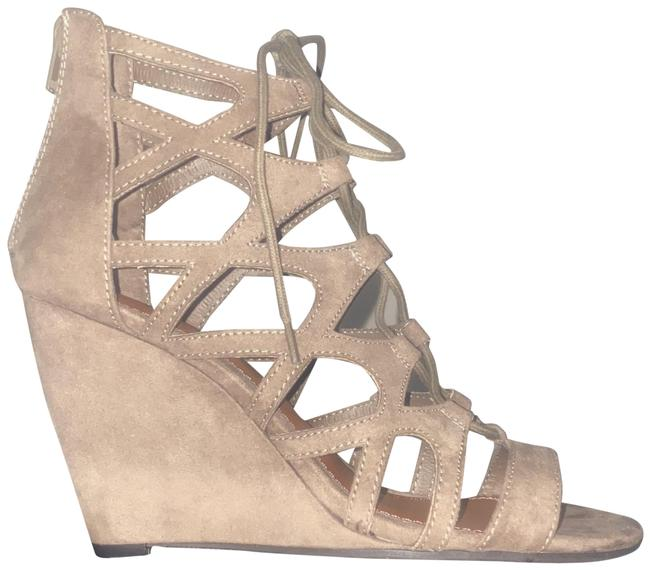 MIA Taupe Nova Suede Gg846d Wedges Size US 8 Regular (M, B) MIA Taupe Nova Suede Gg846d Wedges Size US 8 Regular (M, B) Image 1