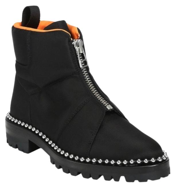 Item - Black Cooper Studded Canvas Ankle Boots/Booties Size US 7.5 Regular (M, B)
