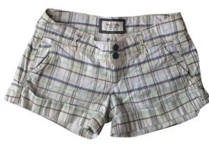Abercrombie & Fitch Shorts Checked White