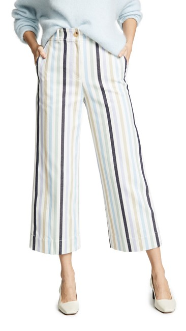 Tory Burch Military Canvas Stripe Cropped Pants Size 8 (M, 29, 30) Tory Burch Military Canvas Stripe Cropped Pants Size 8 (M, 29, 30) Image 1
