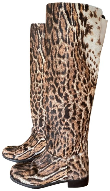 Item - Brown and Cream Yrng Boots/Booties Size US 6.5 Regular (M, B)