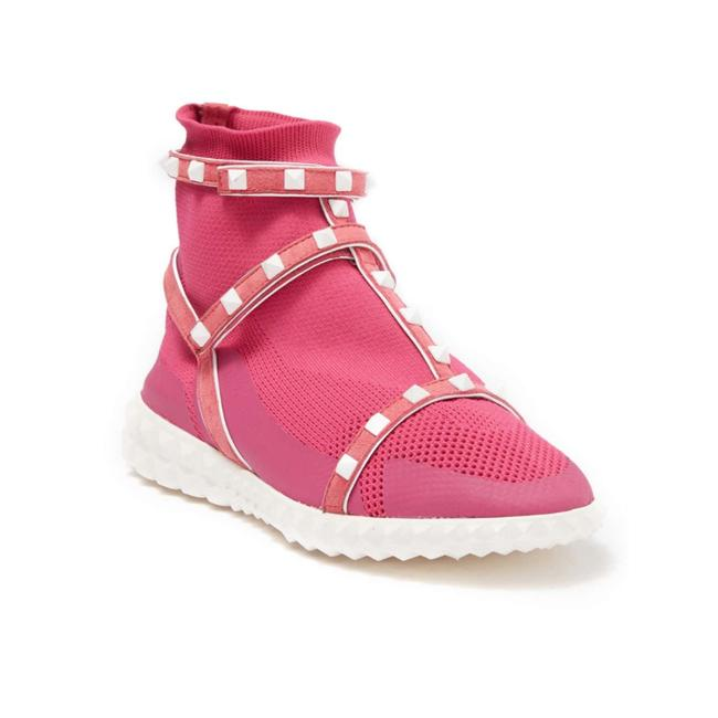 Item - Pink Studded Cage Stretch Sneakers Size US 7 Regular (M, B)