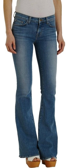 Item - Blue Light Wash 823 Bell Bottom Mid-rise Icicle Boyfriend Cut Jeans Size 28 (4, S)