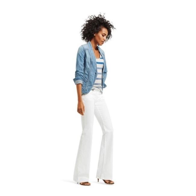 Item - White Light Wash Wide Boot Cut Jeans Size 27 (4, S)