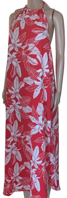 Item - Red Flora High Neck Handkerchief Long Casual Maxi Dress Size 8 (M)