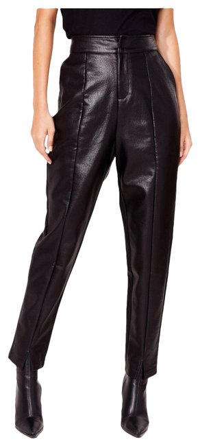 Item - Black Living For Love High-waisted Faux Leather Pants Size 6 (S, 28)