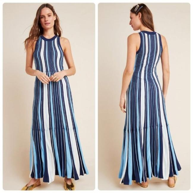 Item - Blue/White Maeve Lisanne Sweater Long Casual Maxi Dress Size 4 (S)
