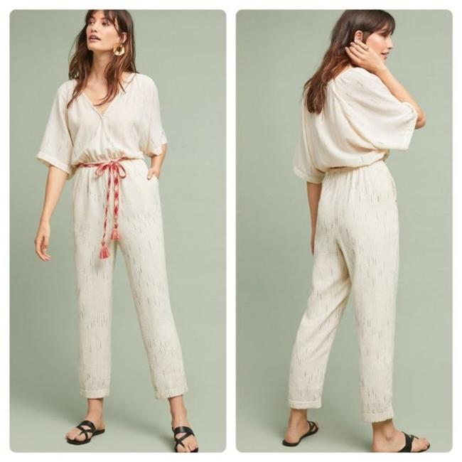 Item - Cream / Ivory Feather Bone Soleil Romper/Jumpsuit