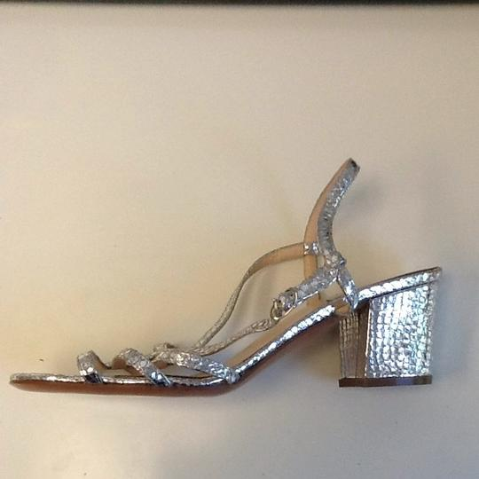 Barneys Co-Op Silver Pumps