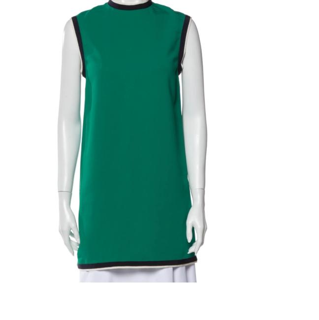 Item - Green Grosgrain-trimmed Cady Tunic Short Casual Dress Size 6 (S)