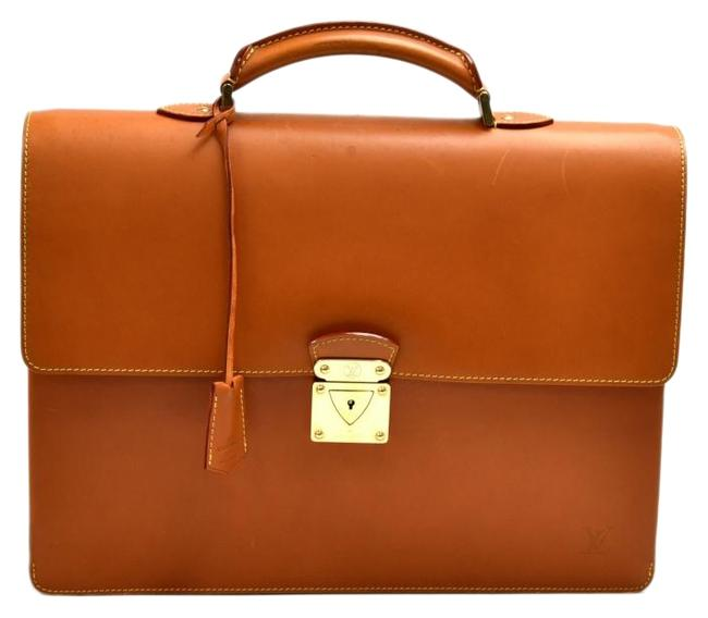 Item - Robusto Briefcase Brown Nomade Leather Satchel