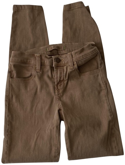 Item - Brown Super Ginger Skinny Jeans Size 24 (0, XS)