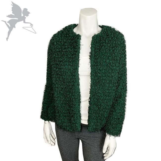 Item - Green Textured Jacket Blazer Size 4 (S)