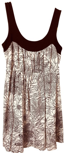 Item - White and Brown Tank Top/Cami Size 4 (S)
