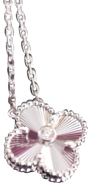 Item - White Gold Vintage Alhambra Diamond Limited Edition Necklace