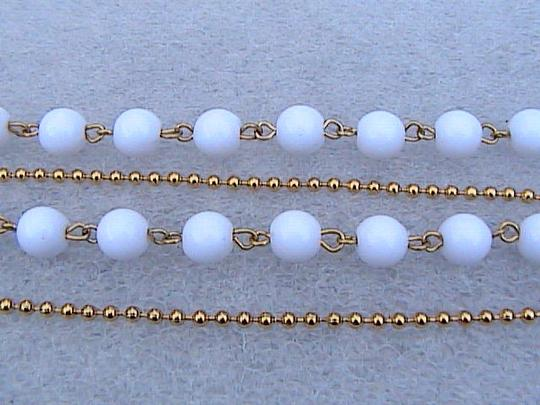 Other Double Strand White Necklace
