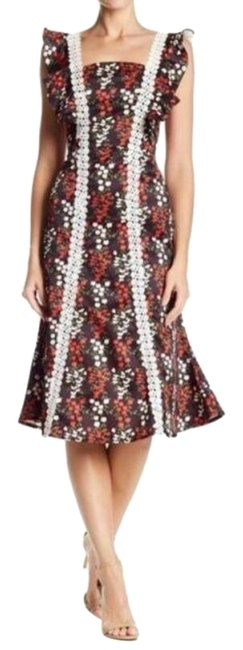 Item - Red Floral Short Casual Dress Size 8 (M)