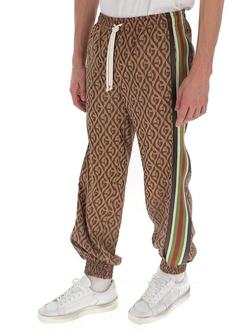 Item - Brown Mens G Rhombus Monogram Logo Drawstring Jogger Track Small Pants Size 4 (S, 27)