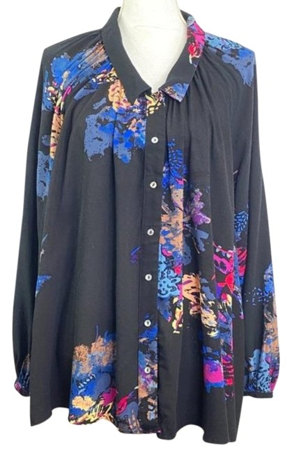 Item - Black Meadow Lark Button-down Top Size 2 (XS)