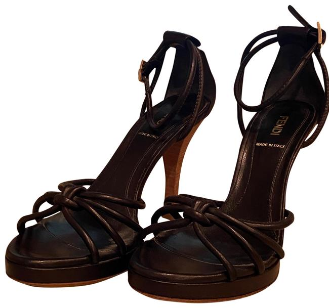 Item - Black Strappy Sandals Platforms Size US 8 Regular (M, B)