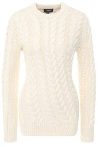 Theory Longsleeve Knit Cableknit Sweater