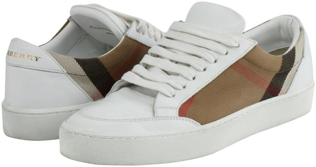 Item - Multi-color House Check and Leather Sneakers Size US 7 Regular (M, B)