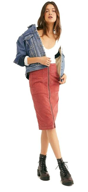 Item - Rust I Want It All Corduroy Dual Directional Zip Style No. Ob106804 Skirt Size 6 (S, 28)