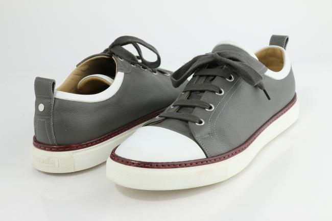Item - Multi-color Two Tone Leather Inside Lace Up Sneakers Shoes
