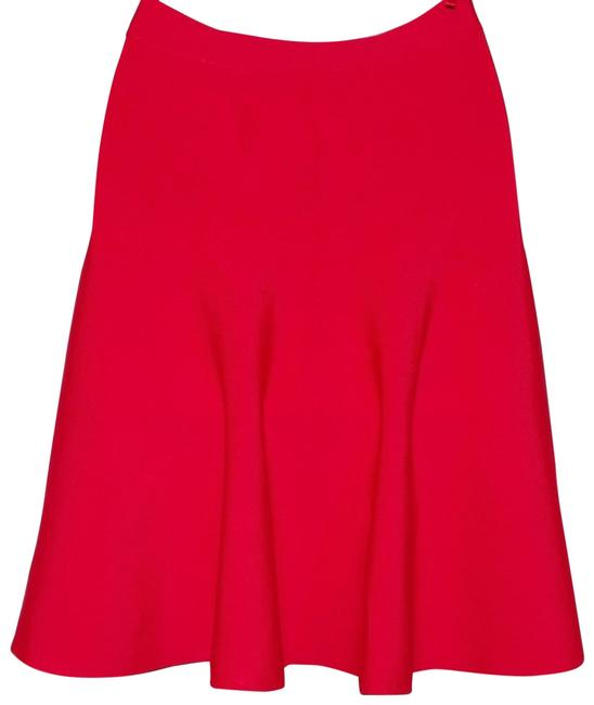 Item - Red Berry Ingrid Rayon Nylon Flare Skirt Size 4 (S, 27)