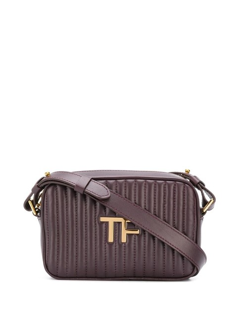 Item - Tf Quilted Leather Camera Purple Cross Body Bag