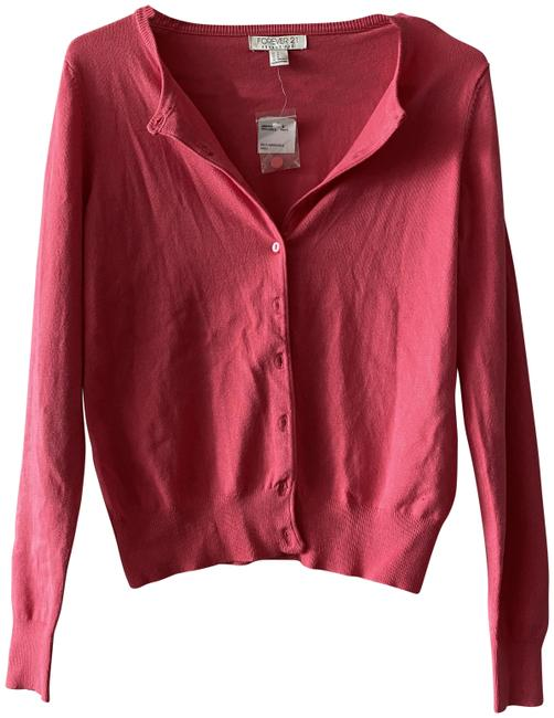 Item - Coral Sweater Pink Sleeve Essentials S Cardigan Size 4 (S)
