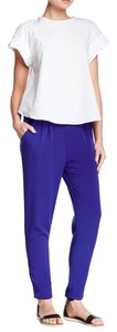 Lush Comfortable Night Out Chic Boyfriend Pants Royal Blue