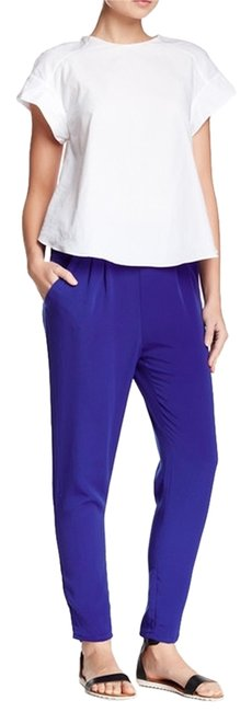 Lush Comfortable Night Out Chic Casual Boyfriend Pants Royal Blue