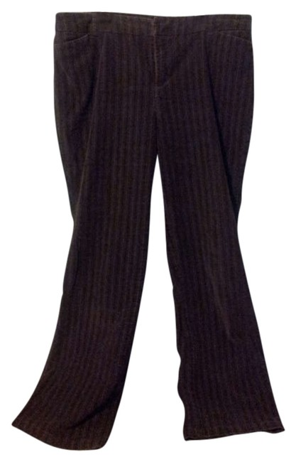 Dress Barn Corduroy Trouser Pants Brown