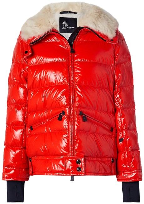 Item - Red Grenoble Arabba Faux Fur-trimmed Quilted Glossed-shell Down Jacket Coat Size 22 (Plus 2x)