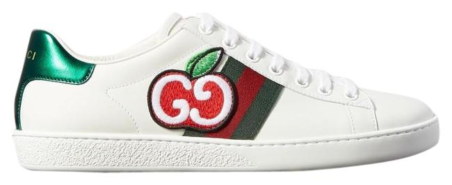 Gucci White Ace Gg Apple Logo Embroidered Leather Sneakers Size EU 38 (Approx. US 8) Regular (M, B) Gucci White Ace Gg Apple Logo Embroidered Leather Sneakers Size EU 38 (Approx. US 8) Regular (M, B) Image 1
