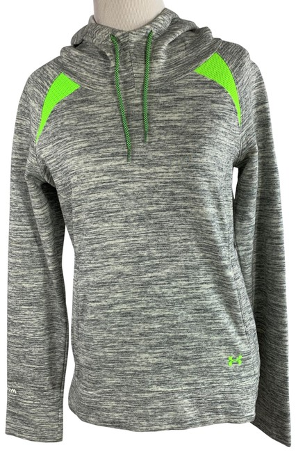 Item - Grey with Neon Green Top Activewear Outerwear Size 6 (S)